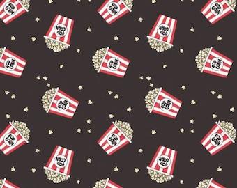Black Popcorn Bucket Toss  21192101-2 - Camelot Fabrics
