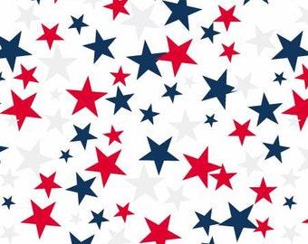 White Patriotic Stars 108in Wide Back  52477-2