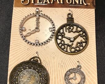 STEAMPUNK Metal Accents Clocks - STEAM015