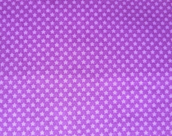 Riley Blake - Halloween Parade Purple Star Fabric - C3966 - End Of Bolt - 44 Inches