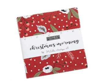 Christmas Morning Charm Pack 5140PP Moda Precuts by Lella Boutique
