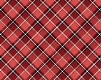 LONDON by Whistler Studios -  Windham Fabrics 52345-2 - Red Plaid