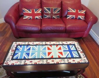 Homemade British Flag Table Runner