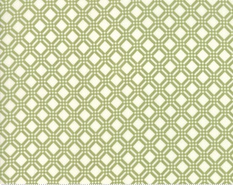 End of Bolt 1 3/4 Yards - Early Bird - Bonnie Camille Fabric  - 55193 16 / 5519316 - Early Bird Check Green