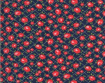 Bonnie Camille Shine On Fabric - Shine On Roses Navy - 5521417 - 55214 17