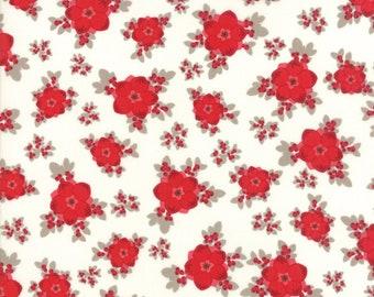 Return to Winter's Lane Moda Fabric Christmas Kate & Birdie red snow floral 13170-12