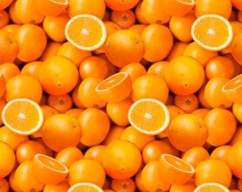 Vitamin C Digitally Printed  51890D-X - Oranges Fabric by Whistler Studios