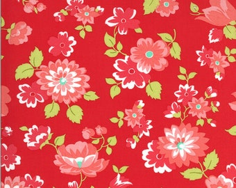 Bonnie Camille Shine On Fabric - Shine On Blossom Red - 5521111 - 55211 11