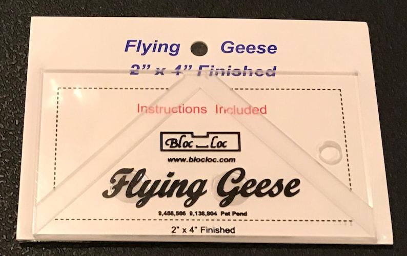 Flying Geese Ruler 2 x 4 FG 2X4 Bloc Loc Bloc Loc