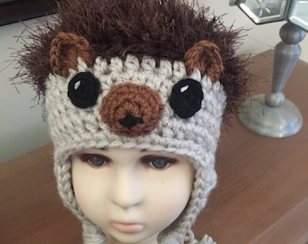 teen  adult for left-handed and right-handed crocheters Crochet PATTERN for Hedgehog Hat crochet hat pattern in baby child toddler