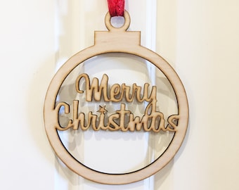 Merry Christmas Door Sign, Holiday sign, Door sign, home decor, wall hanging, Christmas bulb sign