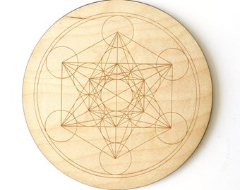 Metatron's Cube Crystal Meditation Grid,  Sacred Geometry, Altar, Yoga, Witchcraft, Witchery, Reiki, Gridding, Pagan, Spiritual or Universe