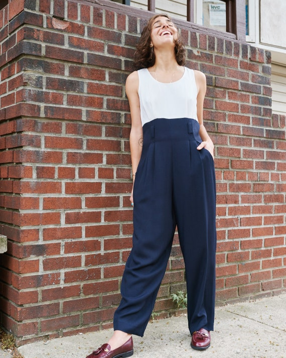 1990s Two Tone Jumpsuit
