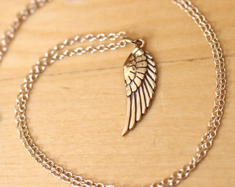 Gold Wing Charity Necklace