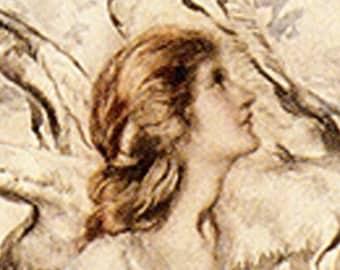 etsy banner - rackham THE song of the LARK, woman, ooak, tree