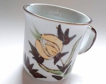 Vintage Stoneware Mug - Hand Painted - Made In Korea