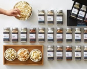 Gourmet popcorn seasonings - personalized gift set of flavored popcorn spices, popcorn gifts, custom gourmet foodie gift, gluten free