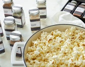 Popcorn gift set for popcorn lover - personalized gift of 8 popcorn seasonings in gift box, gluten free custom gourmet food gift for him