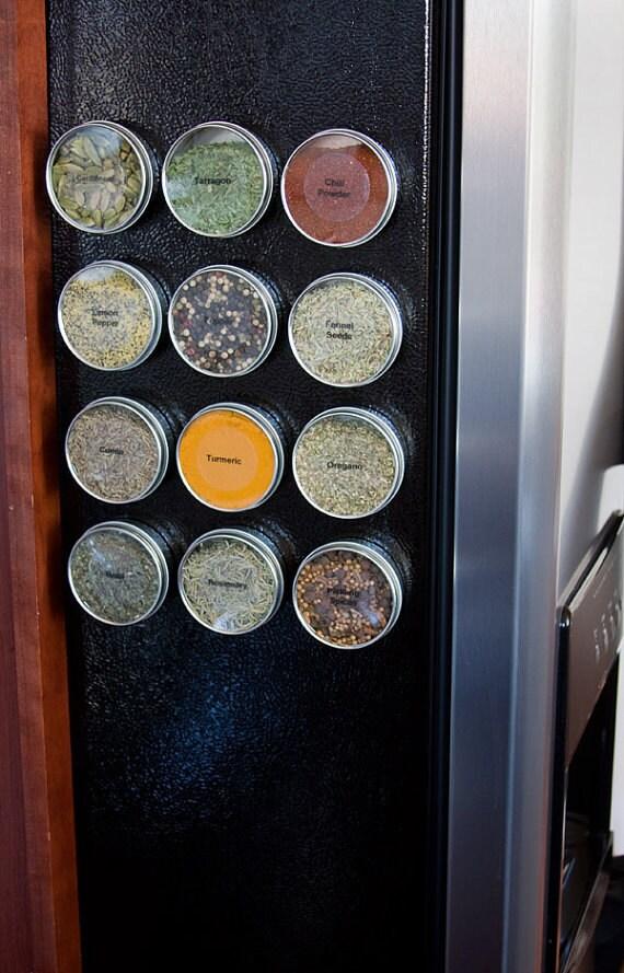 Magnetische Gewürzdosen DIY Gewürzregal für Metallwand | Etsy