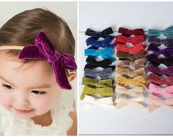 Christmas Headband Children Bow Baby Hair Band Cream gold Gift for kids stocking