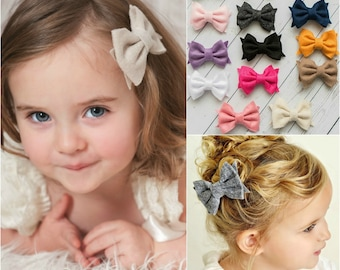 Baby Hair Bows Etsy