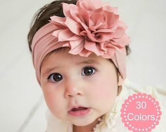 Babies Headbands with 5 coloured daisies newborn