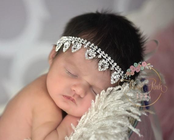 Sparkly headband Bling headband crystal headpiece baby Crystal baby headband Rhinestone headband Christening headband baptism headband