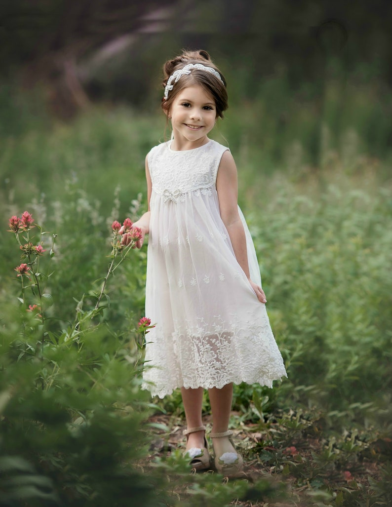 cb550cbc4 Lace flower girl dress Flower girl dresses Country rustic