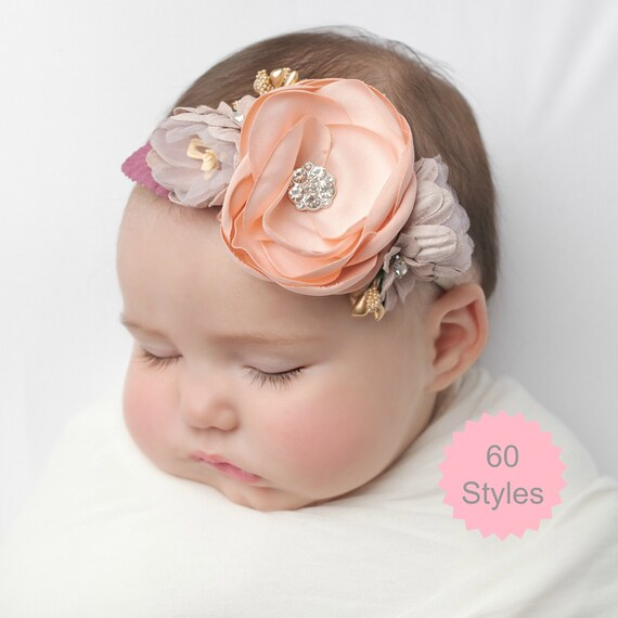 UK Newborn Baby Girls Rose Flower Headband Infant Toddler Hair Band Accessories