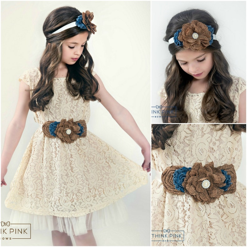 b44fcb31d516f Flower Girl Dress Lace rustic flower girl dress country | Etsy