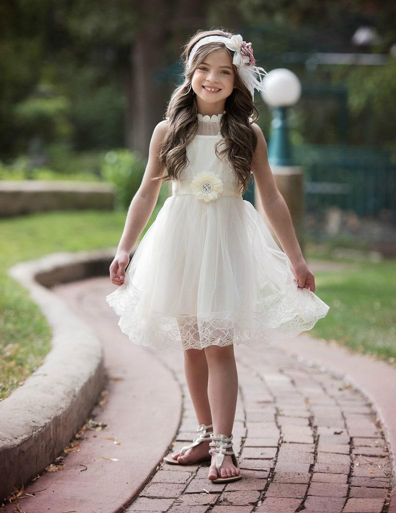 57eae8603 Flower girl dress lace flower girl dressflower girl dresses | Etsy