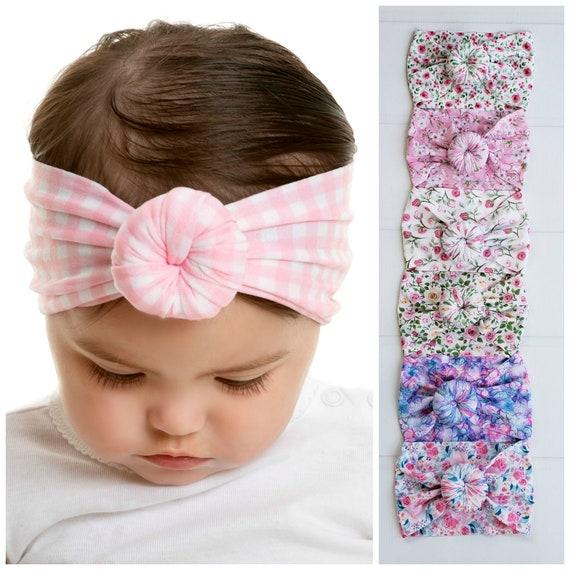Baby Headbands Round Knot Head Wrap Wide Nylon baby  8ef66a45112