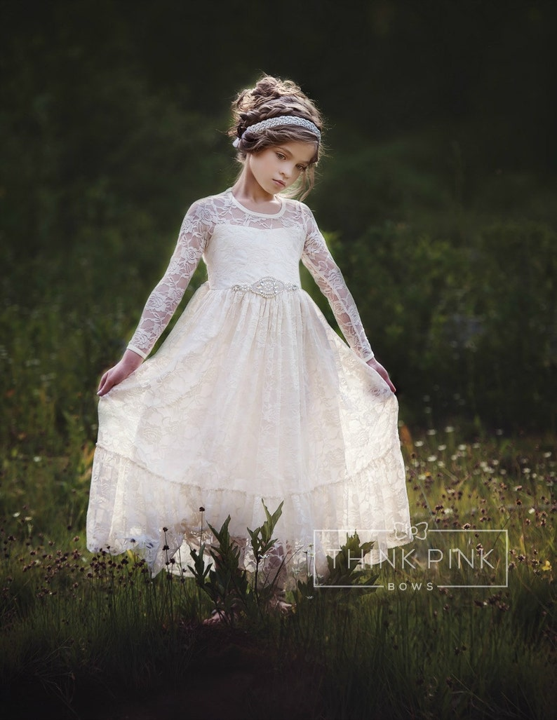 8f94c3177739 Flower girl dress flower girl lace dresses country lace