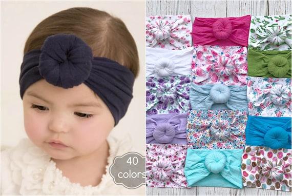Nylon Baby Headband One Size Fits All nylon Headbands Round  027f5d3edd2