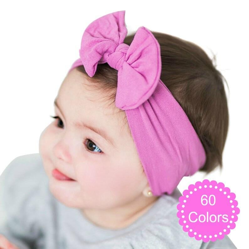Baby headbands TOP KNOT Baby Headband  Newborn headbands image 0