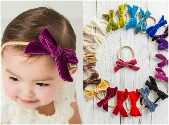 Baby headbands Velvet Hair Bow velvet baby bows Velvet  6d6e372eb44