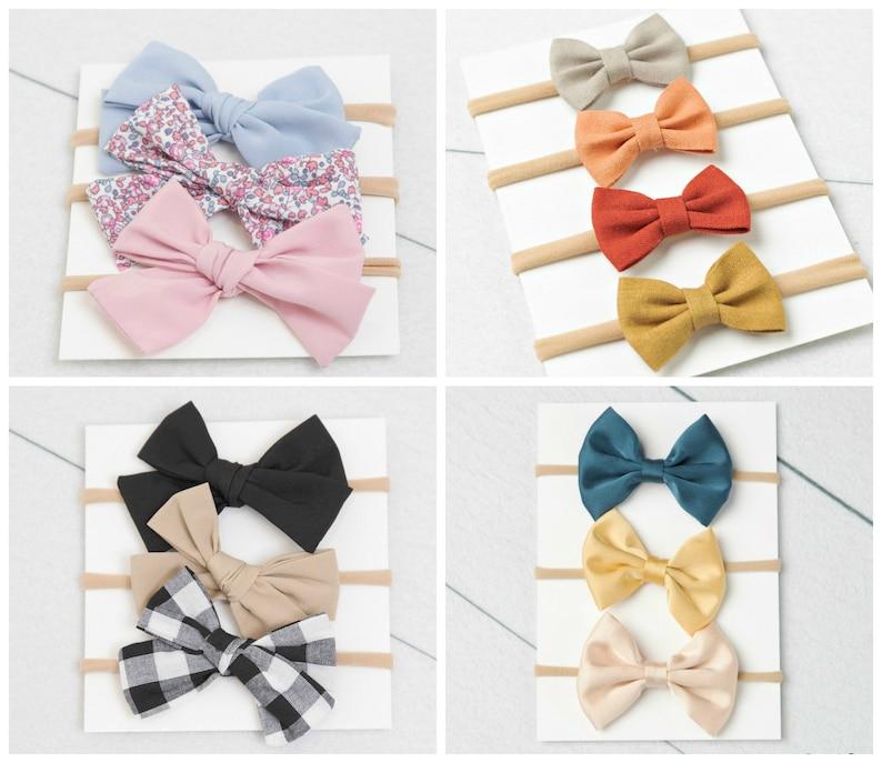 Baby headband SET Baby Headband Small Bows Baby Bows image 0