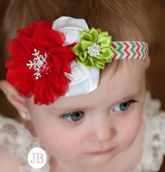 Christmas Headbands For Babies.Christmas Baby Headband Baby Headbands Baby Headband Newborn Headband Christmas Hair Bow Christmas Headband Christmas Headbands