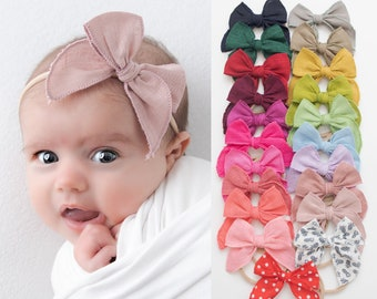 baby headbands, nylon headbands, Baby bow headband, infant headband, newborn headband, baby girl headbands, baby nylon headbands, DANA bows