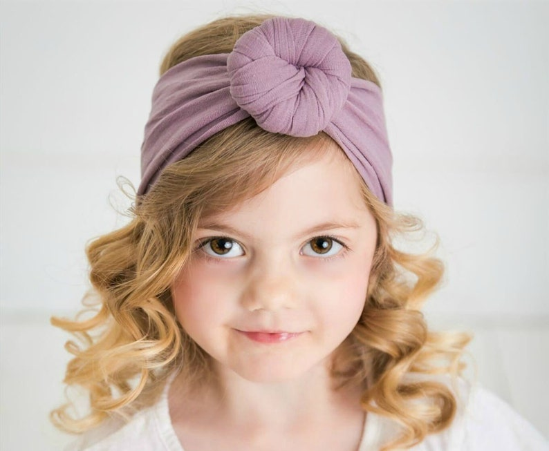 Baby headbands One size fits all headbands Round Knot head  6c83eac5c94