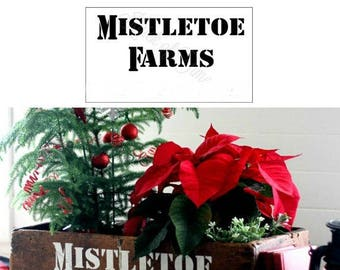 CHRISTMAS SIGN STENCIL Mistletoe Farms for Christmas holiday signs home decor