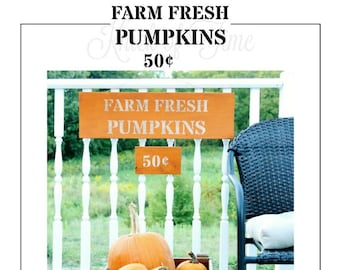 FRESH PUMPKINS  Farmhouse Stencil - DIY Home Decor signs, pillows and more