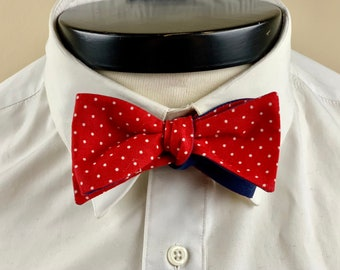 The Marceline- Our vintage inspired bowtie in red and white pin dots