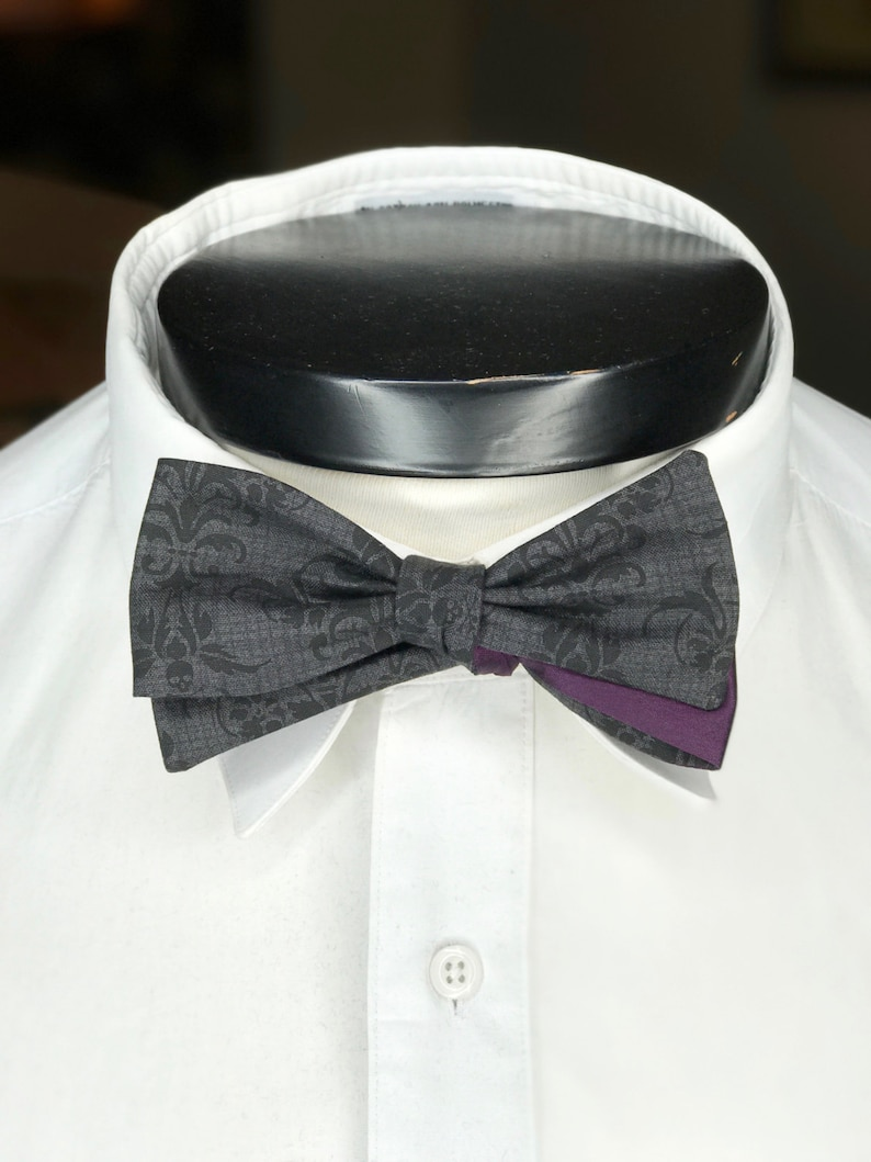 The Walt Our Disney Themed Bowtie in Haunted Mansion Colors image 0