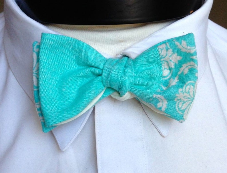The Walt  Our Disney Inspired bowtie in Frozen colors Elsa image 0