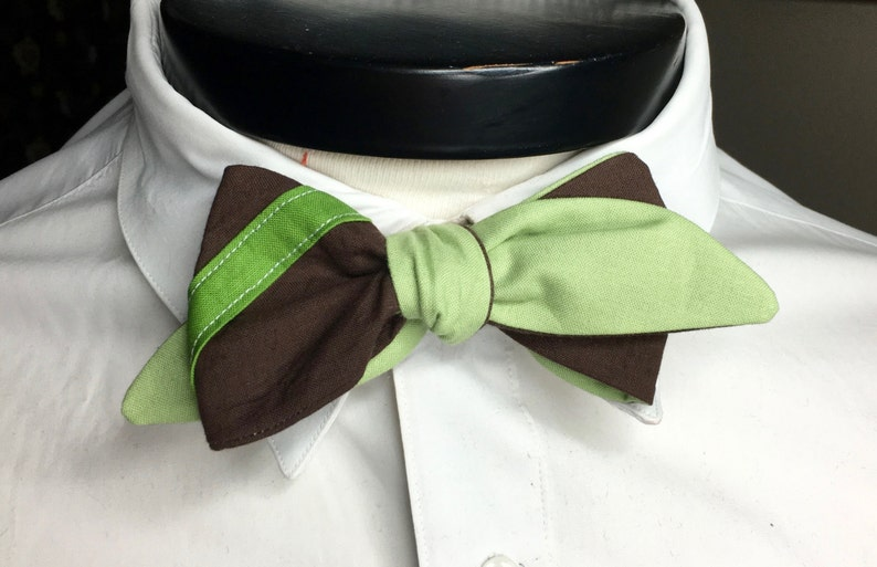 The Lucas  Our Star Wars Inspired bowtie in Yoda Colors image 0