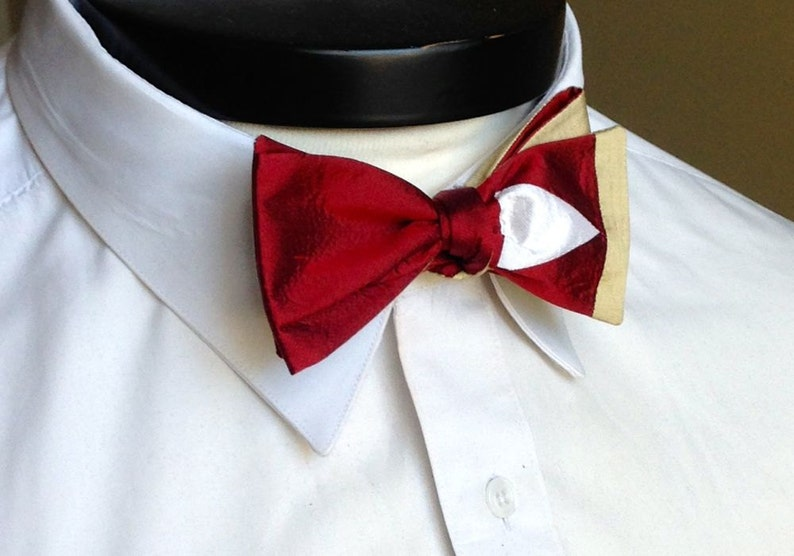 The Lee  Our Marvel Inspired bowtie in Iron Man colors image 0