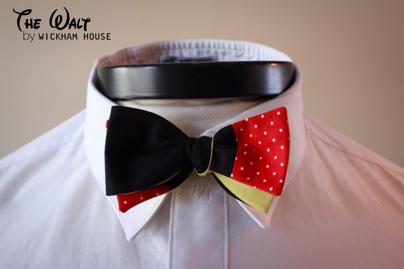 The Walt  Our Disney Inspired cotton bowtie in Mickey colors image 0