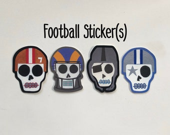 22f0f176 Football Sugar Skull Stickers