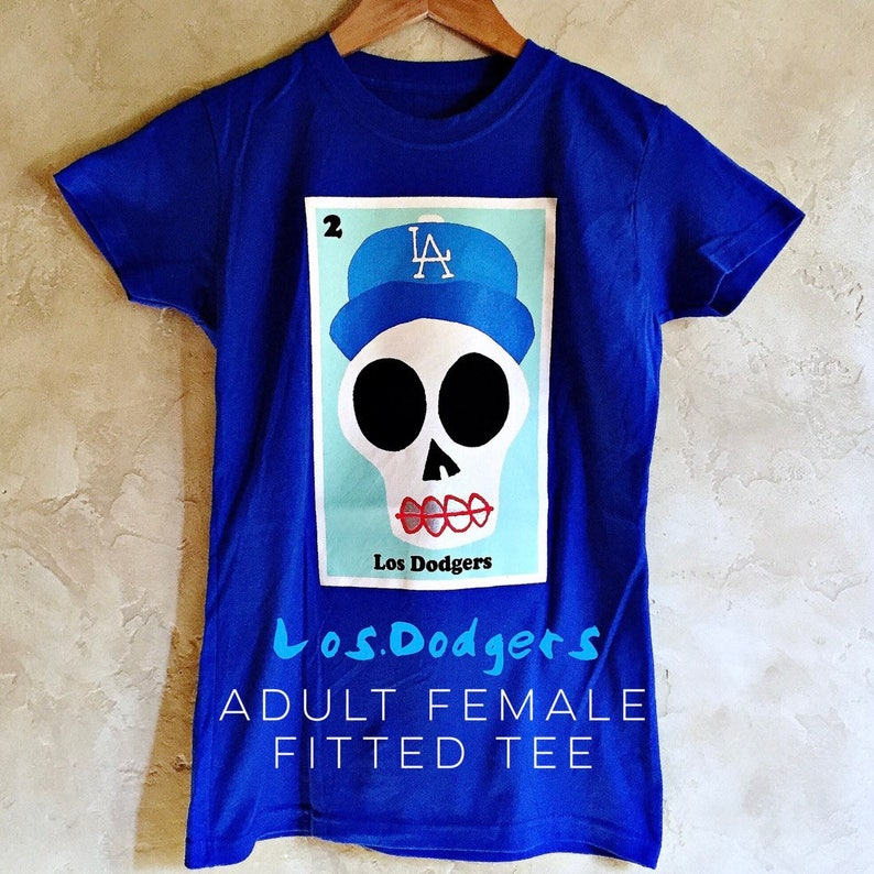 dadc71d813d Female Adult Los Dodgers Royal Blue Sugar Skull